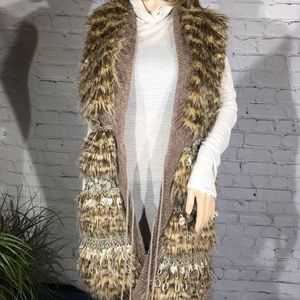 Faux Fur Gorgeous Radzoli Cardigan.